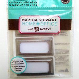 4/$20 Adhesive Metal Bookplate Label Holder 6x Slv